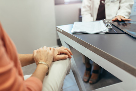 Woman meeting with doctor to seek advice