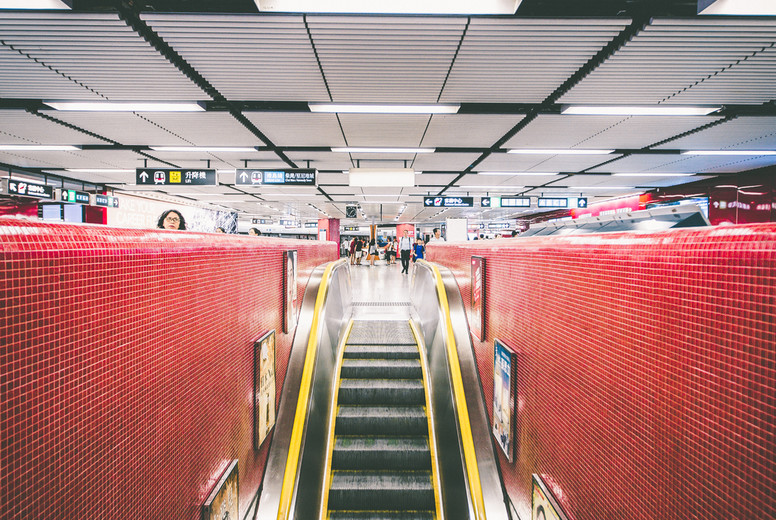 Escalator in the subway