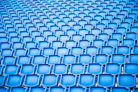 Blue Stadium Seating