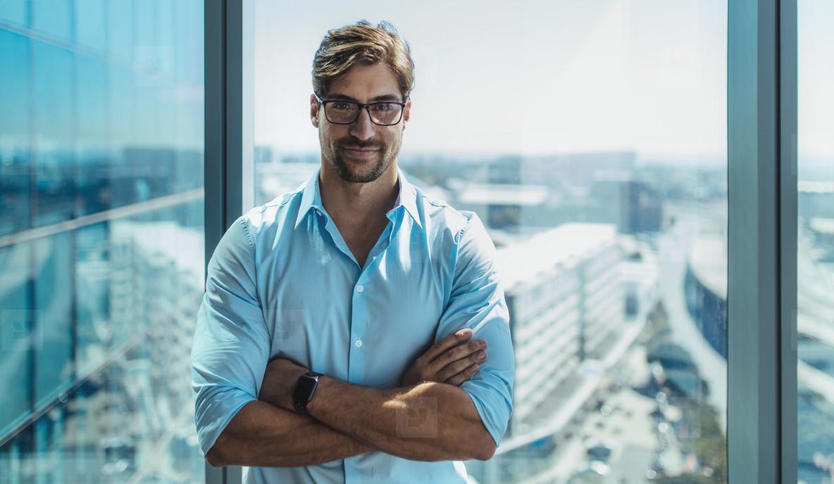 Portrait of a smiling young entrepreneur