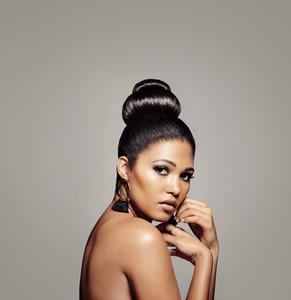 Glamorous female model with perfect skin
