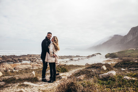 Couple in love enjoying a romantic moment