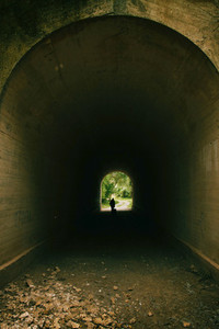 Tunnel in autumn