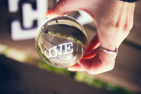 Love word through a ball