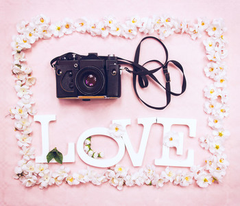 Camera and word love