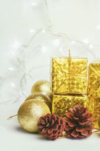 Golden christmas decoration