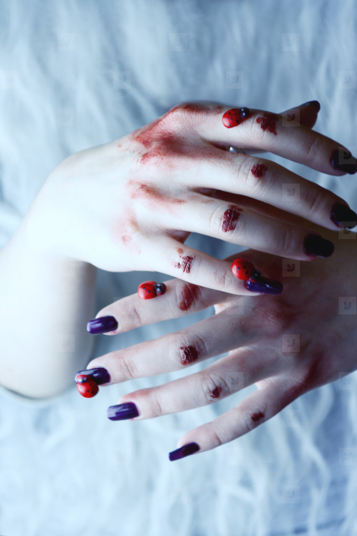 Witch hands in halloween
