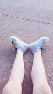 Teen feet with sneakers