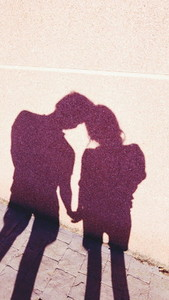 Lovely couple silhouette