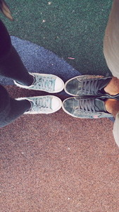 Feet of young couple