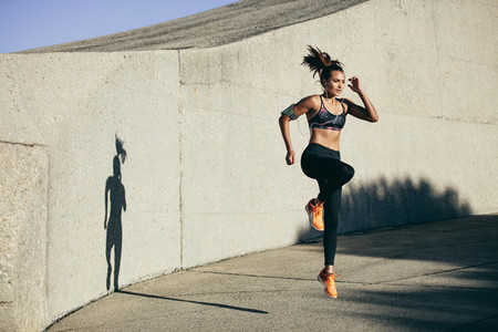 Fitness woman doing cardio interval training