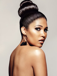 Stylish female model with beautiful sin