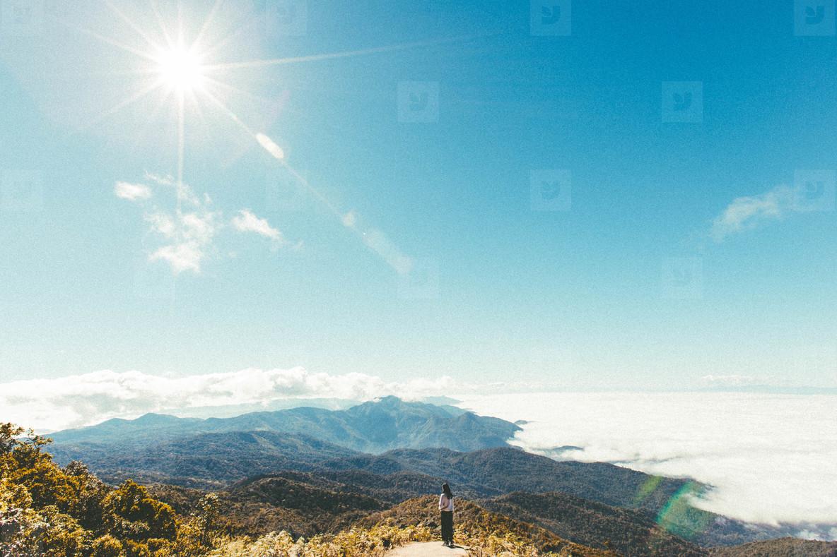 Morning mist on mountains  13