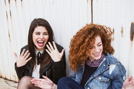 Young women friends