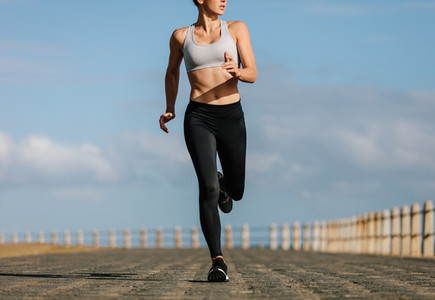 Female runner working out in the morning