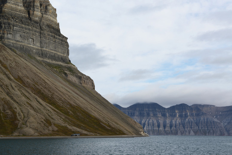 Svalbard cliff