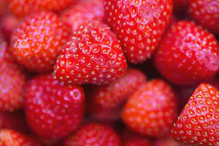 Fresh red strawberries background