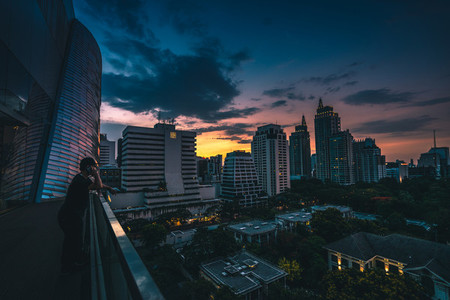 Moody Sunset in Bangkok