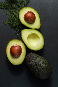 Avocados and dill leaves