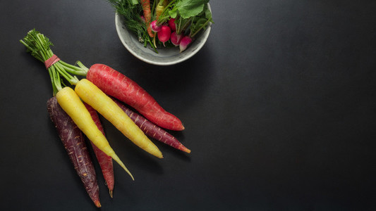 Vegetables on table