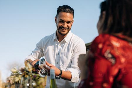 Millennials during outdoor party