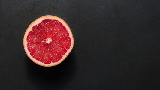 Half cut grapefruit