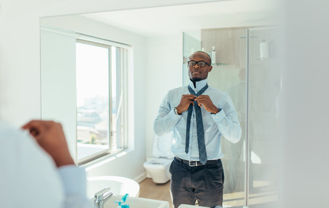 Man getting ready for office