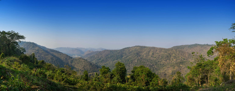 Panorama view of Landscape Khao Yai National park in Thailand