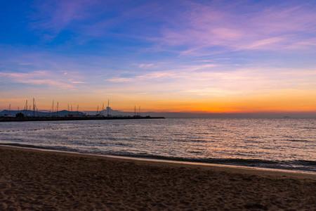 Beautiful Sunset over the sea on Pattaya Thailand