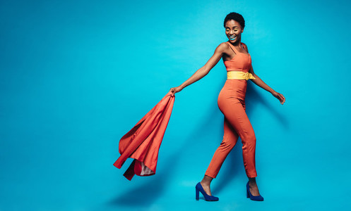 Fashionable african woman in stylish outfit