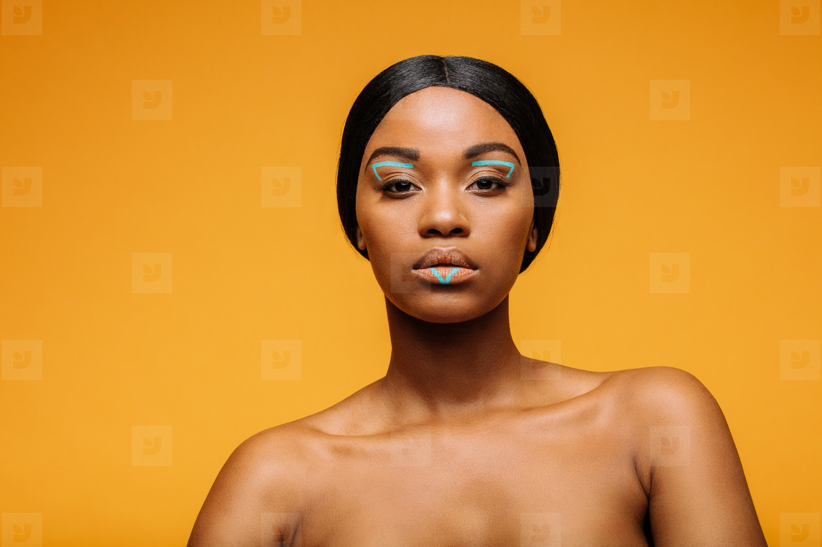 Beauty shot of woman with artistic make up