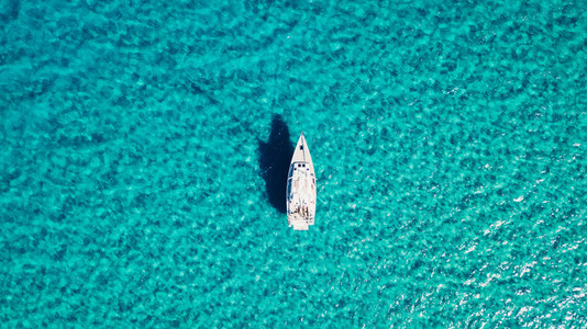 Sailboat view from drone