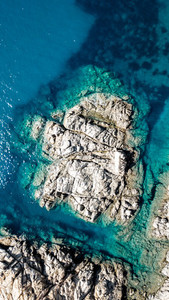 Aerial view of the amazing sea