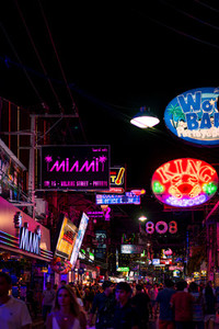 PATTAYA THAILAND   September 2 2017  Colorful night light wit