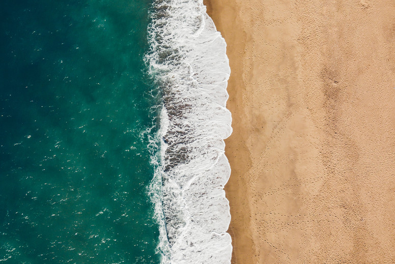 High angle view of the beach