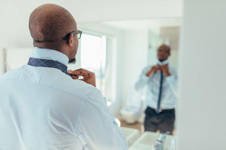 Man wearing a tie