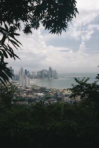 Aerial view of the Panama City skyline