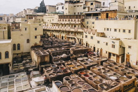Curtidores en Marruecos