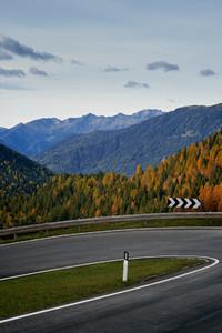 Beautiful curvy road