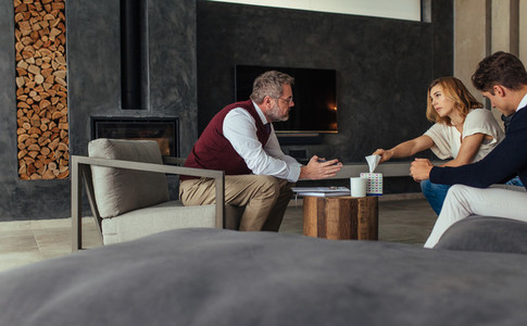Couple seeing a psychotherapist to solve their problems