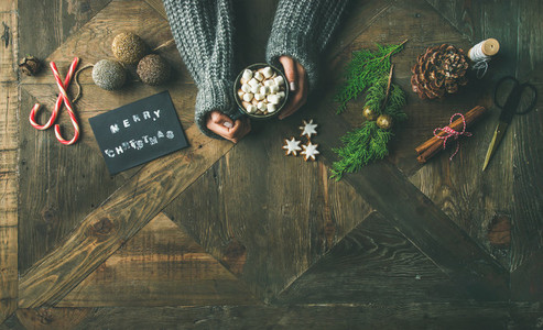 Christmas or New Year holiday background copy space