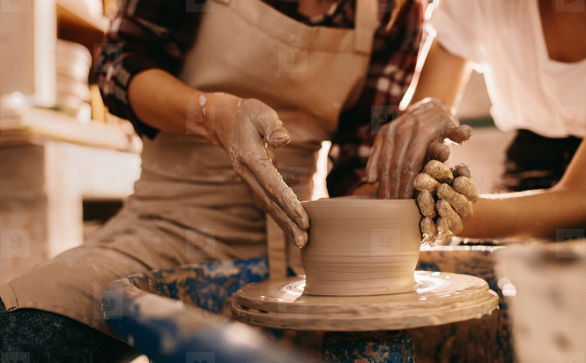 making of a clay bowl