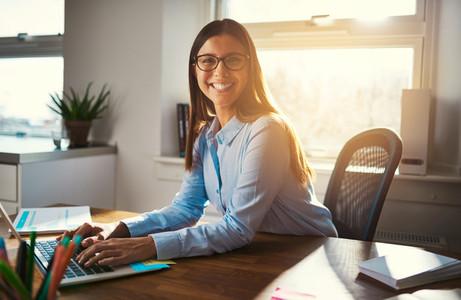 Female entrepreneur at desk