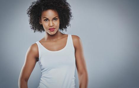 Tough beautiful young Black woman