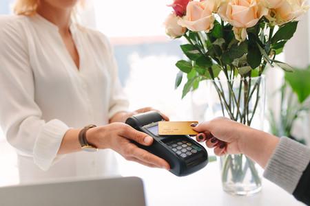 Contactless payment at florist