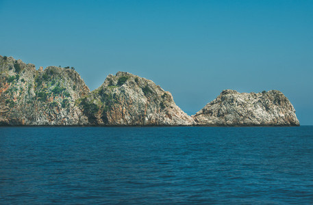 Rocks of cape Cilvarda in Alanya  Mediterranean Turkey
