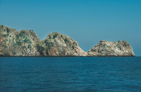 Rocks of cape Cilvarda in Alanya  Mediterranean Turkey