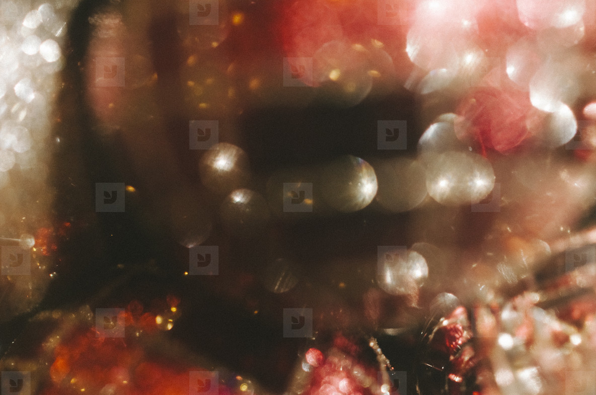 Bokeh Red and Silver Holiday