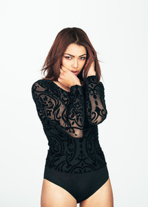 Woman in designer dress