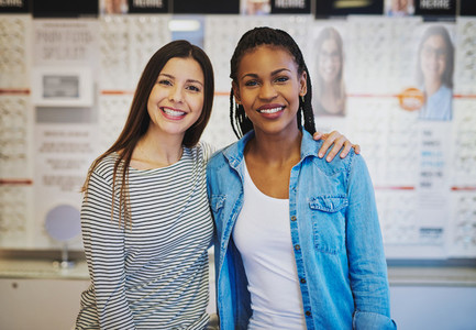 Two female partners opening new business